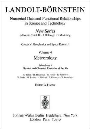 Physical and Chemical Properties of the Air / Physikalische und chemische Eigenschaften der Luft de S. Bakan
