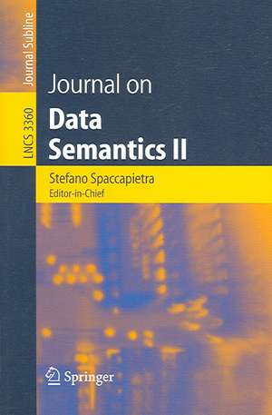 Journal on Data Semantics II de Stefano Spaccapietra