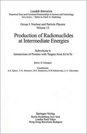 Interactions of Protons with Targets from Kr to Te de A.S. Iljinov
