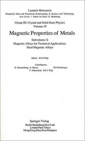 Hard Magnetic Alloys de D. Bonnenberg