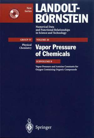 Vapor Pressure and Antoine Constants for Oxygen Containing Organic Compounds de J. Dykyj