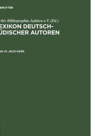 Jaco-Kerr de Archiv Bibliographia Judaica e.V.