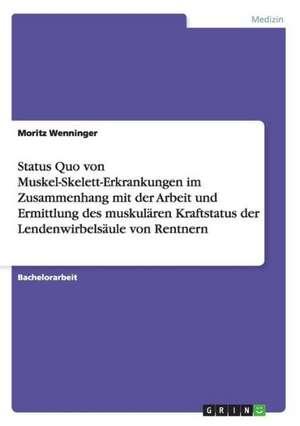 Status Quo Von Muskel-Skelett-Erkrankungen Im Zusammenhang Mit Der Arbeit Und Ermittlung Des Muskularen Kraftstatus Der Lendenwirbelsaule Von Rentnern