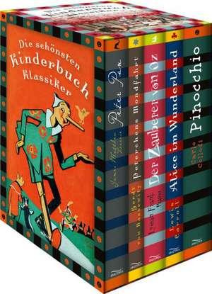 Die schoensten Kinderbuchklassiker: Peter Pan - Peterchens Mondfahrt - Alice im Wunderland - Der Zauberer von OZ - Alice im Wunderland - Pinocchio (6 Baende in Kassette)
