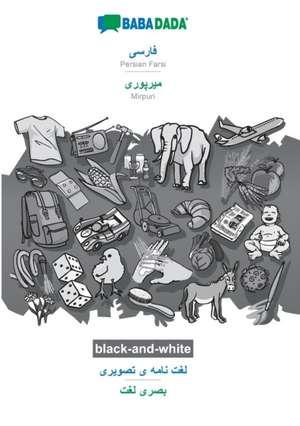 BABADADA black-and-white, Persian Farsi (in arabic script) - Mirpuri (in arabic script), visual dictionary (in arabic script) - visual dictionary (in arabic script) de  Babadada Gmbh