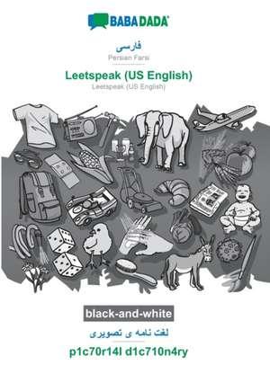 BABADADA black-and-white, Persian Farsi (in arabic script) - Leetspeak (US English), visual dictionary (in arabic script) - p1c70r14l d1c710n4ry de  Babadada Gmbh