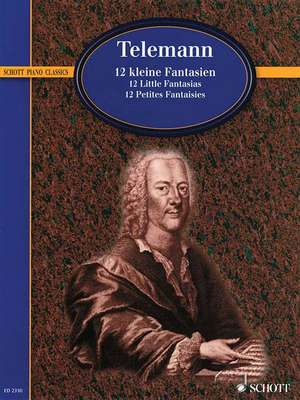 Telemann - 12 Little Fantasias:  Piano de Georg Philipp Telemann
