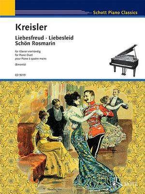Liebesfreud * Liebeslied * Schon Rosmarin:  Piano Duet de Fritz Kreisler