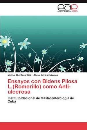 Ensayos Con Bidens Pilosa L.(Romerillo) Como Anti-Ulcerosa