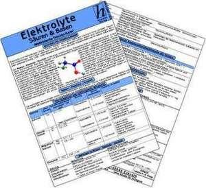 Elektrolyte, Saeuren & Basen - Medizinische Taschen-Karte