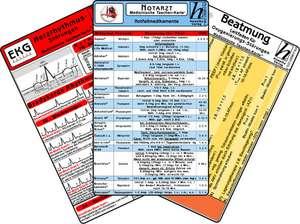 Notarzt Karten-Set - Herzrhythmusstoerungen, Notfallmedikamente, Beatmung - Oxygenierungs-Stoerungen, EKG Auswertung