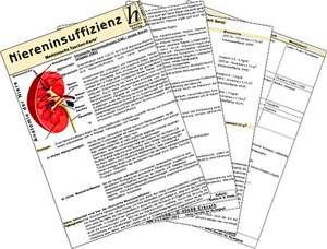 Niereninsuffizienz - Medizinische Taschen-Karte