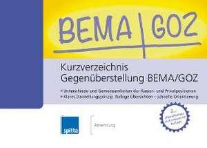 Kurzverzeichnis Gegenueberstellung BEMA/GOZ