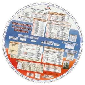 Language Wheels. Russische Verben. Sprachdrehscheibe