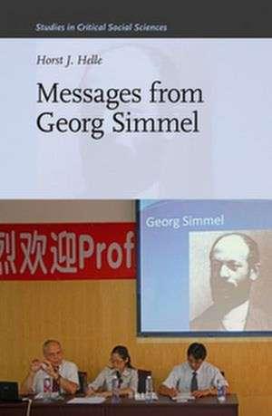 Messages from Georg Simmel de Horst J. Helle