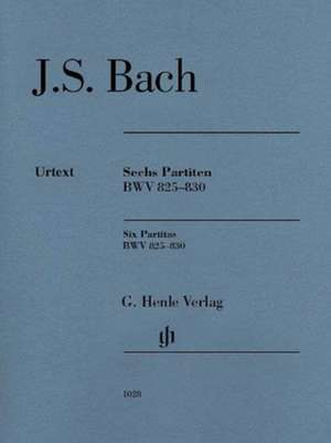 Sechs Partiten BWV 825-830, Urtext de Johann Sebastian Bach