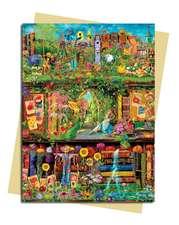 Aimee Stewart: Garden Bookshelves Greeting Card