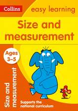 Collins Easy Learning Preschool - Size and Measurement Ages 3-5:  New Edition