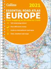 2021 Collins Essential Road Atlas Europe