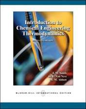Introduction to Chemical Engineering Thermodynamics (Int'l Ed)