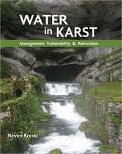 Water in Karst: Management, Vulnerability, and Restoration