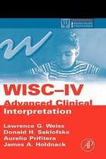 WISC-IV Advanced Clinical Interpretation