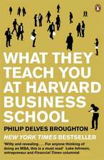 What They Teach You at Harvard Business School: The Internationally-Bestselling Business Classic