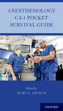 Anesthesiology CA-1 Pocket Survival Guide