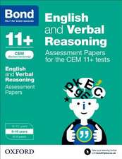 Bond 11+: English and Verbal Reasoning: Assessment Papers for the CEM 11+ tests: 9-10 years