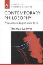 Contemporary Philosophy: Philosophy in English since 1945
