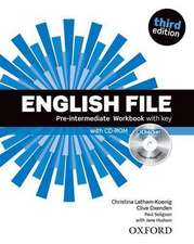 English File third edition: Pre-intermediate: Workbook with key and iChecker