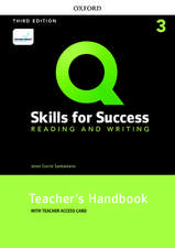 Q: Skills for Success: Level 3: Reading and Writing Teacher's Handbook with Teacher's Access Card