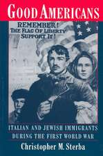 Good Americans: Italian and Jewish Immigrants in the First World War