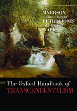 The Oxford Handbook of Transcendentalism