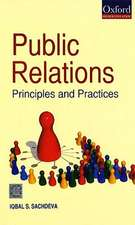 Public Relations: Principles and Practices