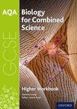 AQA GCSE Biology for Combined Science (Trilogy) Workbook: Higher