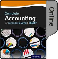 Complete Accounting for Cambridge O Level & IGCSE: Online Student Book