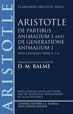 De Partibus Animalium I and De Generatione Animalium I (with passages from Book II. 1-3)