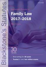 Blackstone's Statutes on Family Law 2017-2018