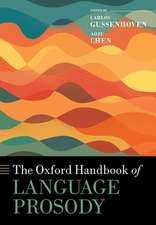 The Oxford Handbook of Language Prosody