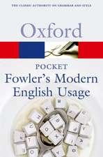 Pocket Fowler's Modern English Usage