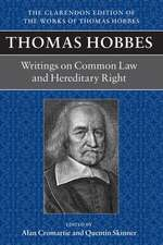 Thomas Hobbes: Writings on Common Law and Hereditary Right