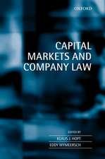 Capital Markets and Company Law