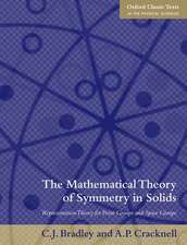 The Mathematical Theory of Symmetry in Solids: Representation Theory for Point Groups and Space Groups
