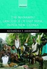 The Manambu Language of East Sepik, Papua New Guinea