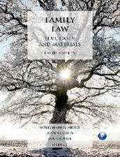 Family Law: Text, Cases, and Materials