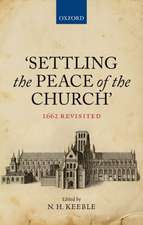 'Settling the Peace of the Church': 1662 Revisited