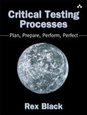 Critical Testing Processes:  Plan, Prepare, Perform, Perfect