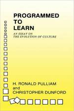 Programmed to Learn – An Essay on the Evolution of Culture