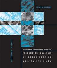 Econometric Analysis of Cross Section and Panel Materials for Econometric Analysis of Cross Section and Panel Data 2e